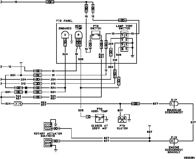 power takeoff electrical system overview and diagrams 00 this work package covers power takeoff electrical system overview and diagrams the power takeoff pto electrical system consists of the pto clutch
